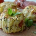 Картофени мъфини с масло с билки