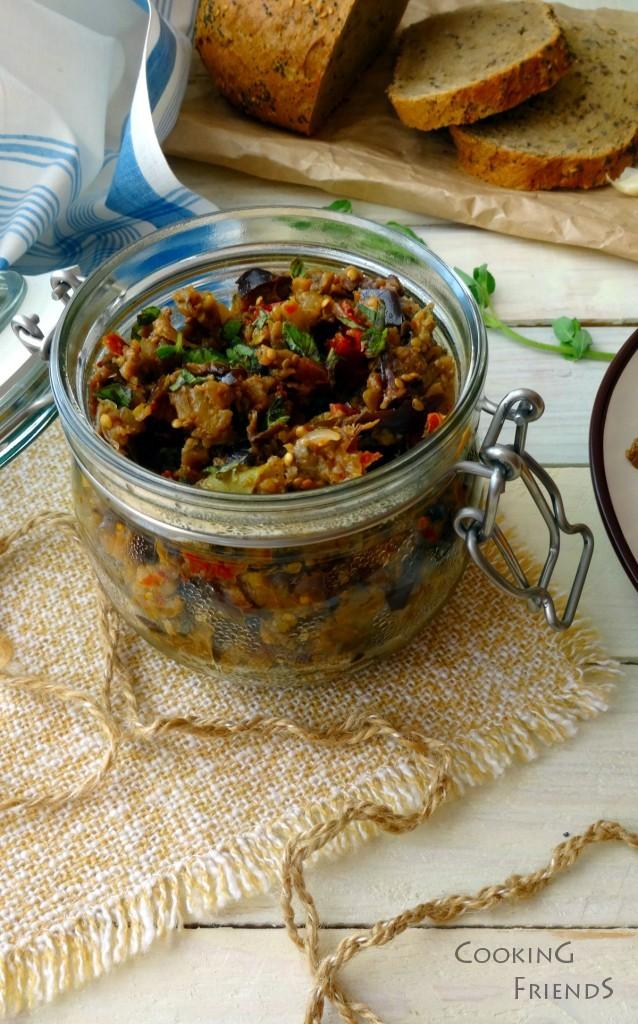 Песто от ароматни печени зеленчуци