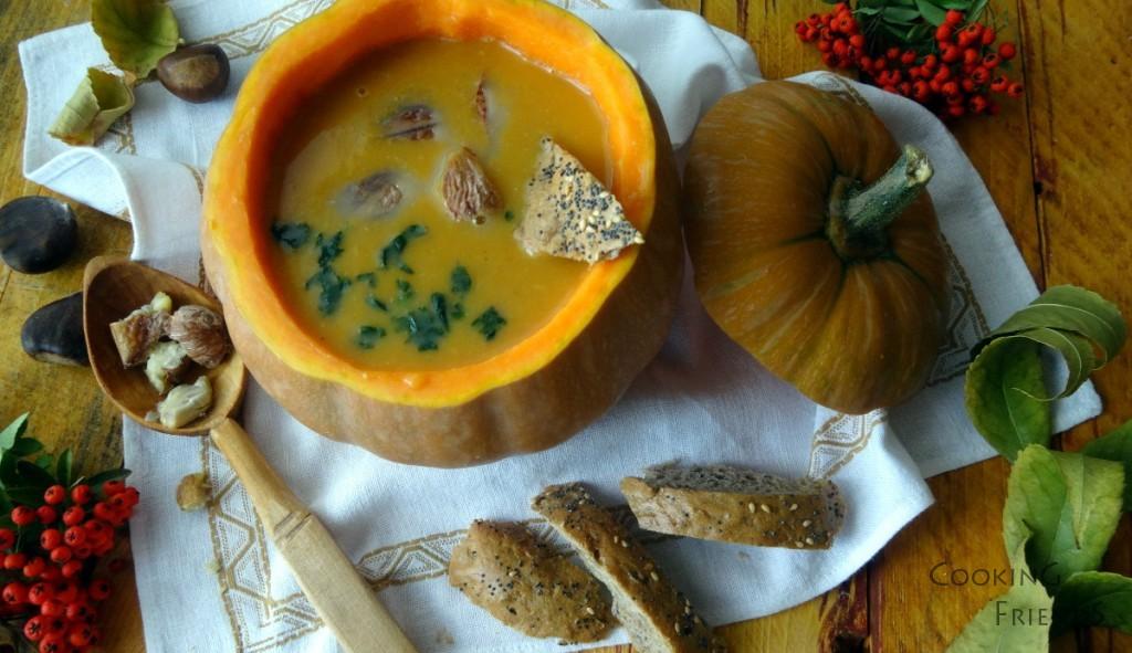 Супа от тиква с кестени