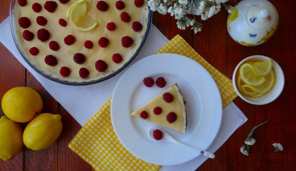 Лимонов чийзкейк с малини