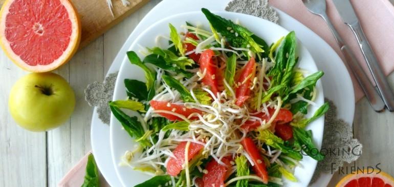 Храна за здраве: Салатка с грейпфрут, ябълка и целина