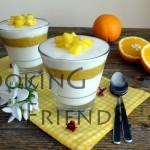 Панакота с манго, мед и портокал