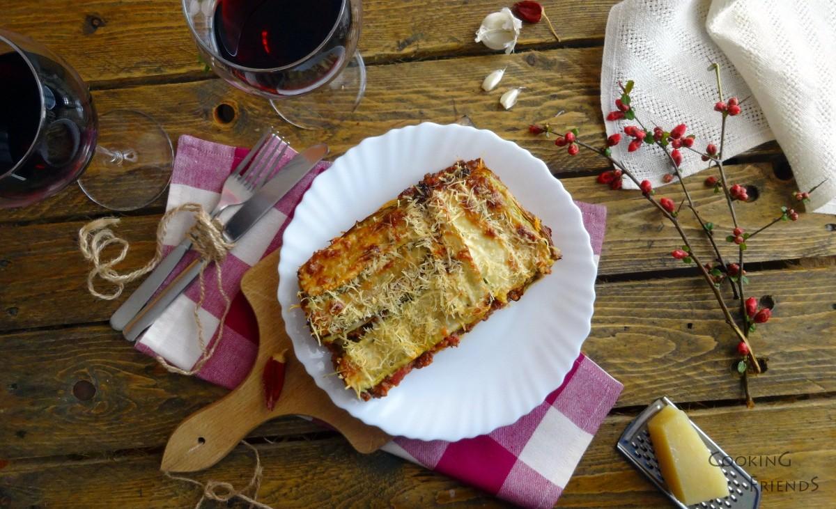 Лазаня от тиквички със сос Болонезе