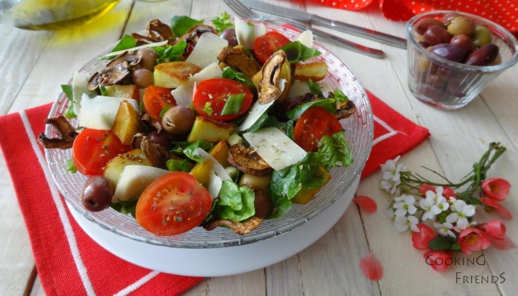 Свежа салатка с картофи и спанак