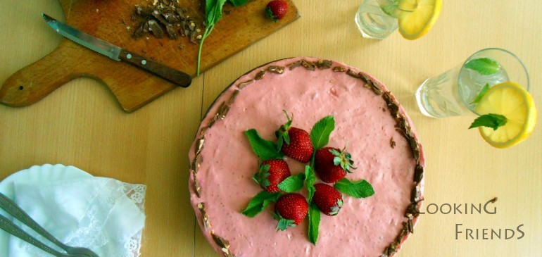 Ягодова торта без печене