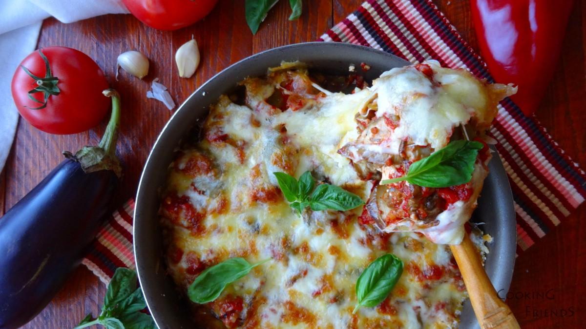 Запечени патладжани с домати и сирена
