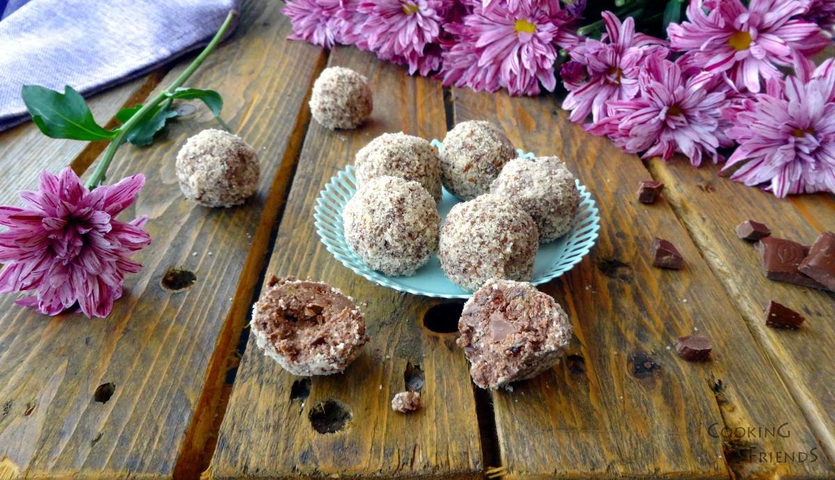 Домашни бонбони с халва и шоколад
