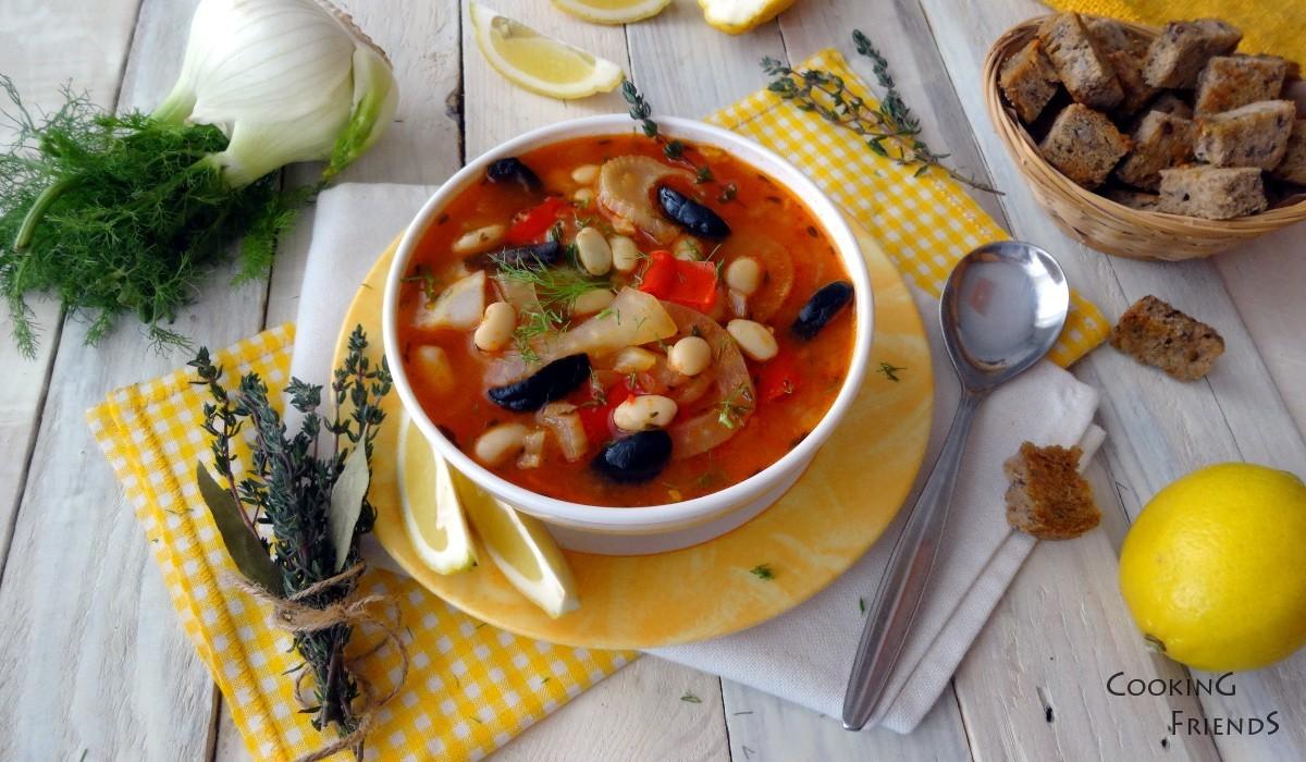 Бобена чорба с фенел и маслини