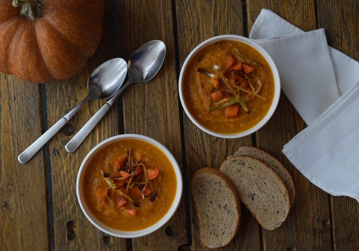 Крем супа с ароматни лентички праз