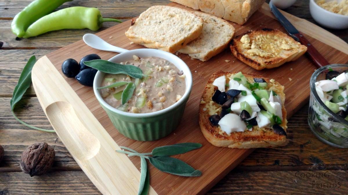 Яйчена салата със салвия и яйчен пастет