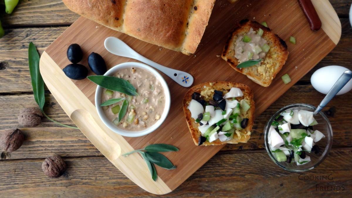 Яйчена салата и яйчен пастет със салвия
