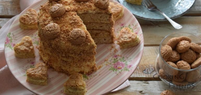 Торта с бисквитки амарети