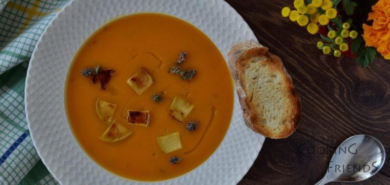 Крем супа от тиква и целина с ябълков сайдер