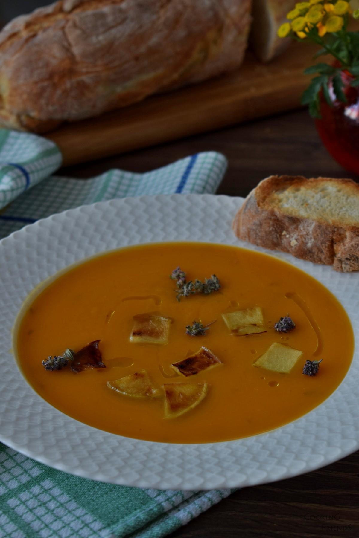 Крем супа от тиква,целина и ябълков сайдер
