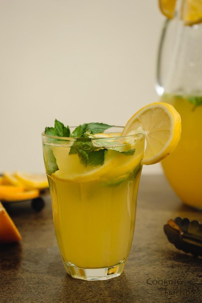 Домашна лимонада с портокали и мента