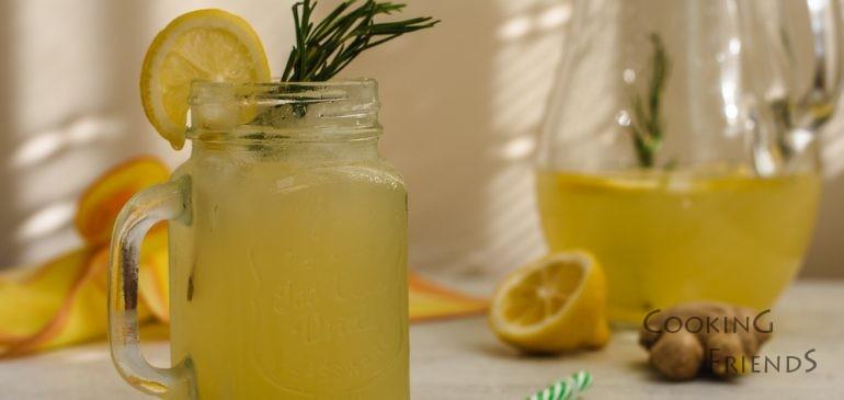 Джинджифилова лимонада с розмарин и мед