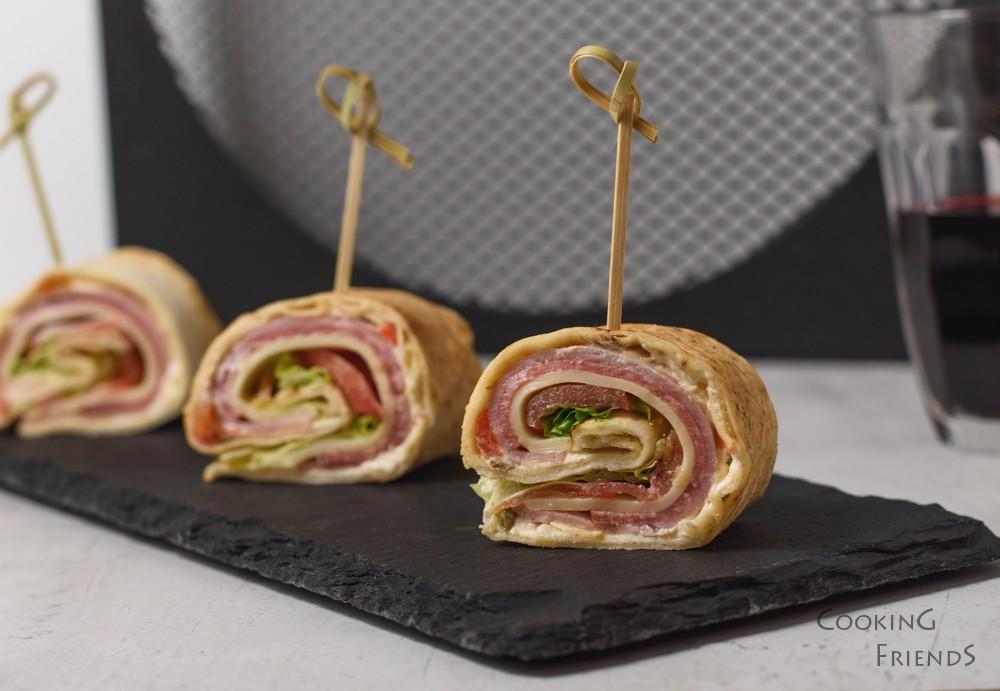 Предястие от италиански сандвич ролки