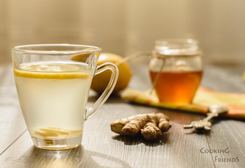 Джинджифилов чай с лимон и мед