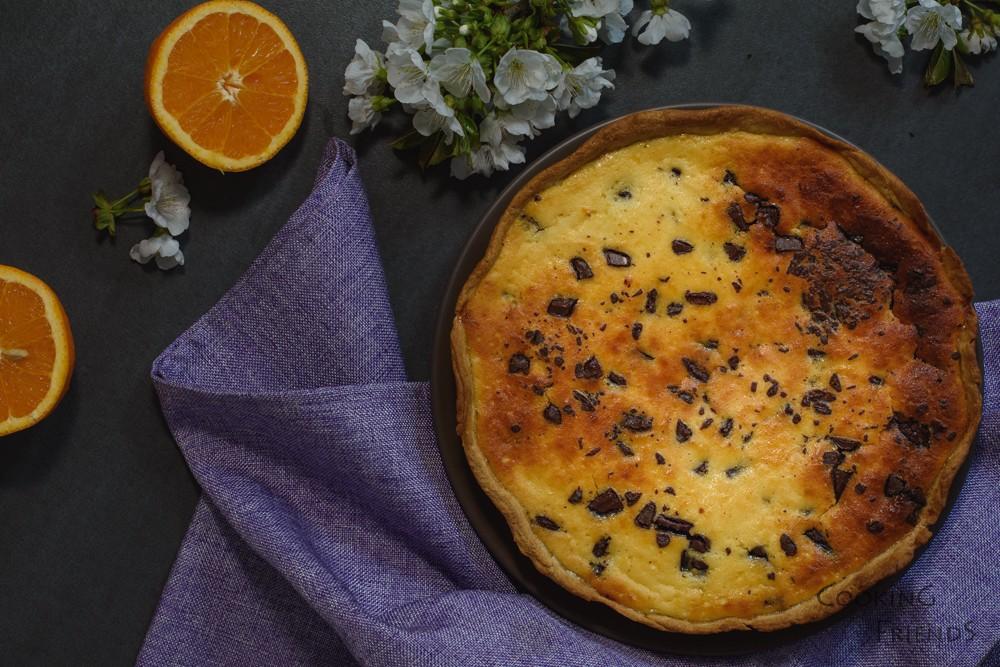 Великденски пай с рикота, шоколад и портокал