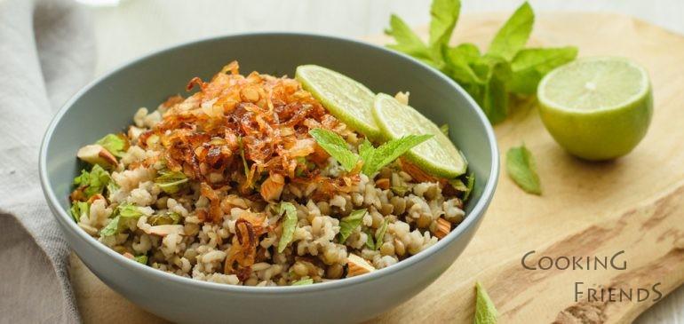Mujadara (леща, ориз и карамелизиран лук)