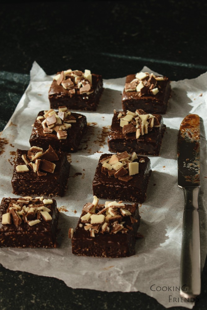Шоколадови блокчета с мента