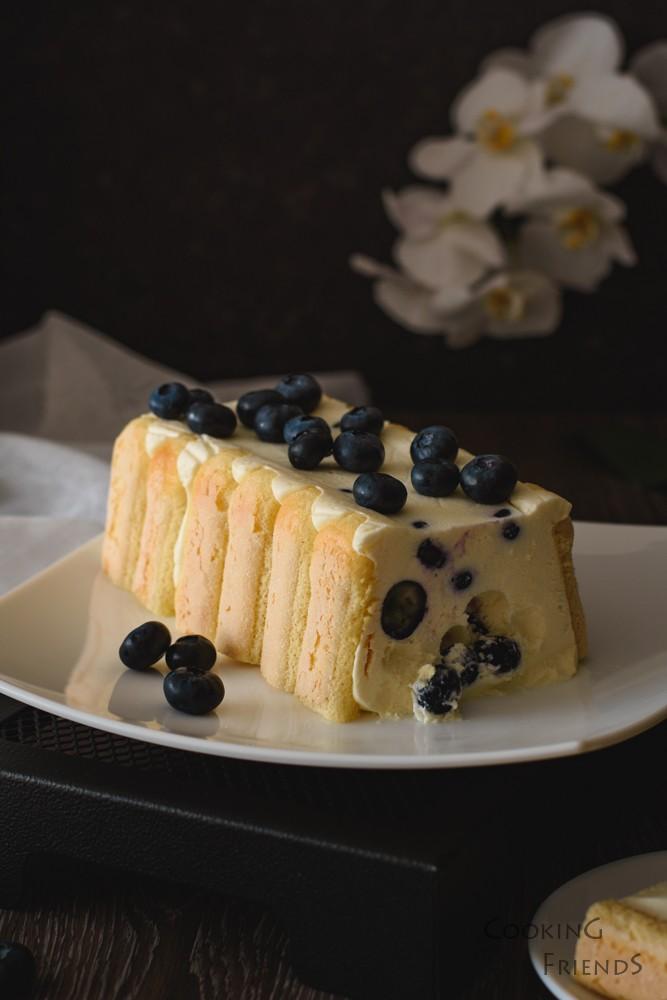 Лесен десерт с боровинки и лимон