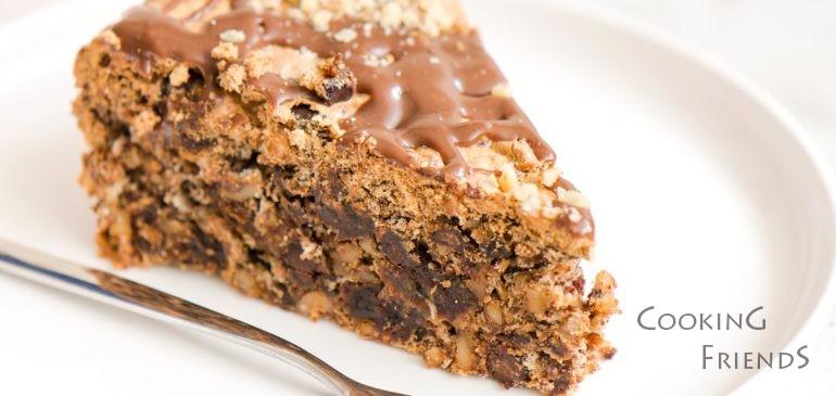 ВИДЕО: Торта с орехи, фурми и шоколад :)