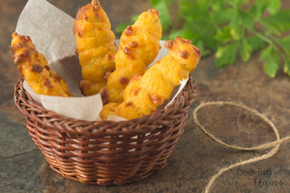Пръчици от сладки картофи и кашкавал