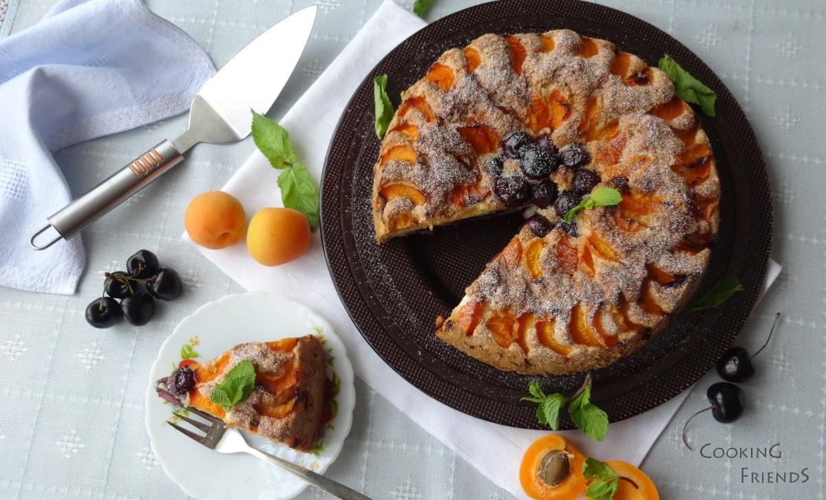 Кейк с пресни плодове