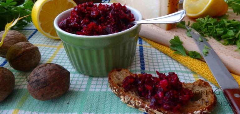 Рубинено песто от червено цвекло и идея за паста