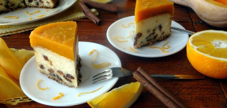 Чийзкейк с тиква и аромат на портокал