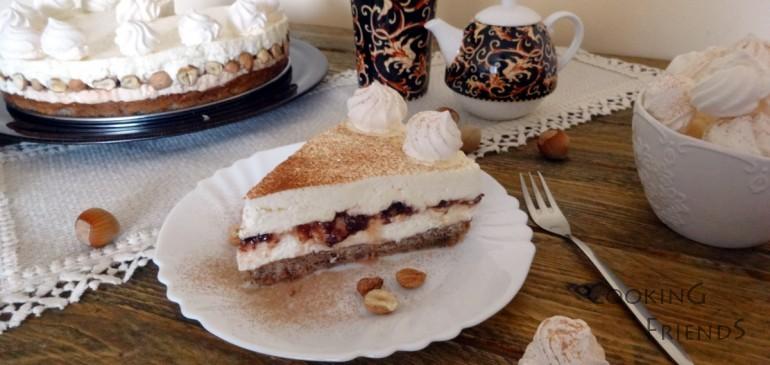 Торта с лешници, бял шоколад и маскарпоне