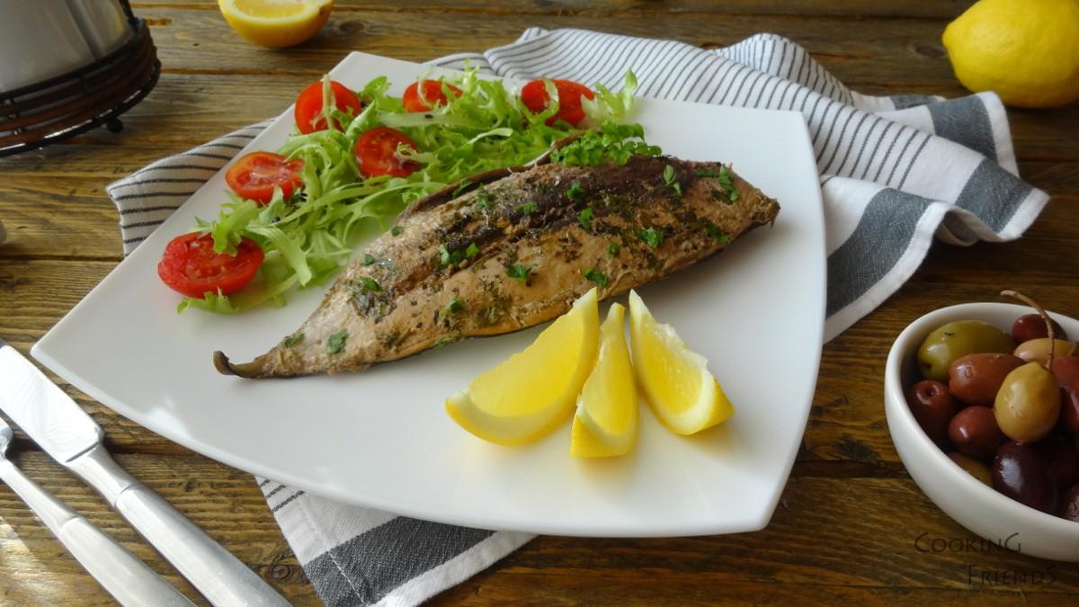 Маринована риба тон на фурна