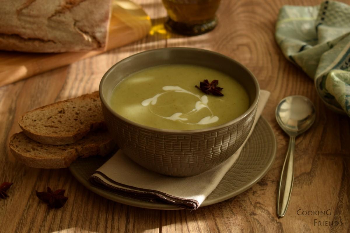 Крем супа от целина със звездовиден анасон