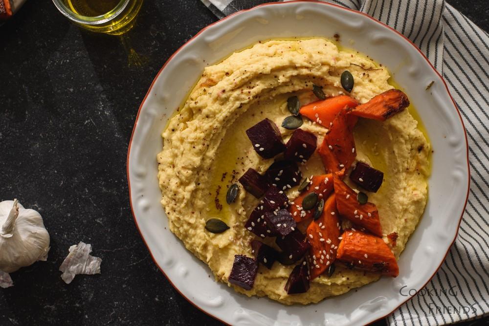 Хумус с печени кореноплодни